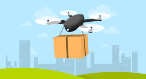 Drone Carrying a Box